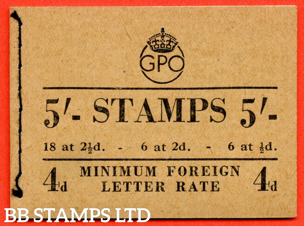 SG. BD28 (49). 5/-.December 1950. A very fine example of this George GVI booklet.