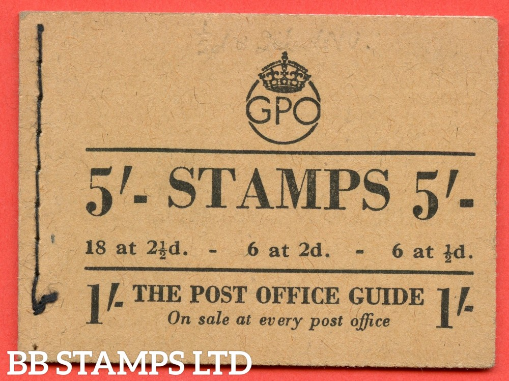 """SG. BD28 (48). """" 5/- """".Edition number 48. October 1950. A very fine example of this George GVI booklet."""