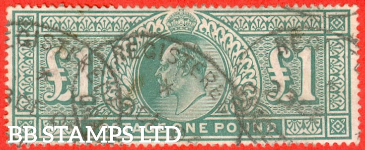 SG. 266. M55. £1.00 Dull blue - green. A good - fine used example.