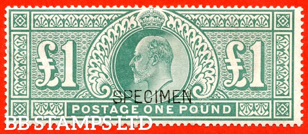 "SG. 266 s. M55 s. £1.00 Dull blue - green. A very fine mounted mint example overprinted "" SPECIMEN "" type 16."