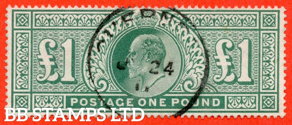 """SG. 266. M55. £1.00 dull blue - green. A very fine """" GUERNSEY """" CDS used example."""