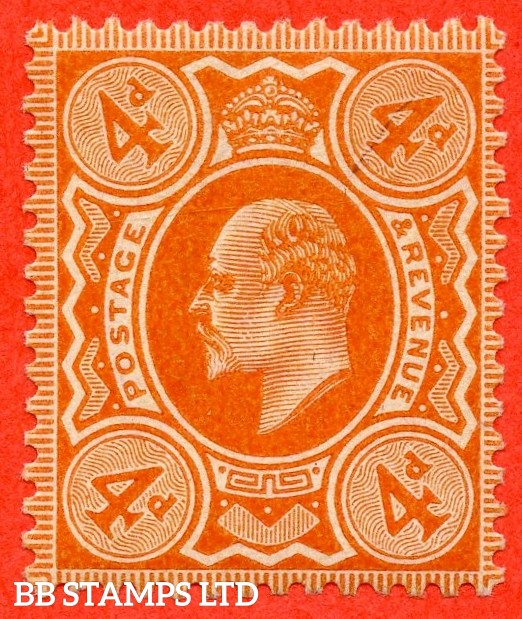 SG. 239. M25 (1). 4d brown - orange. A very fine UNMOUNTED MINT example complete with BPA certificate.