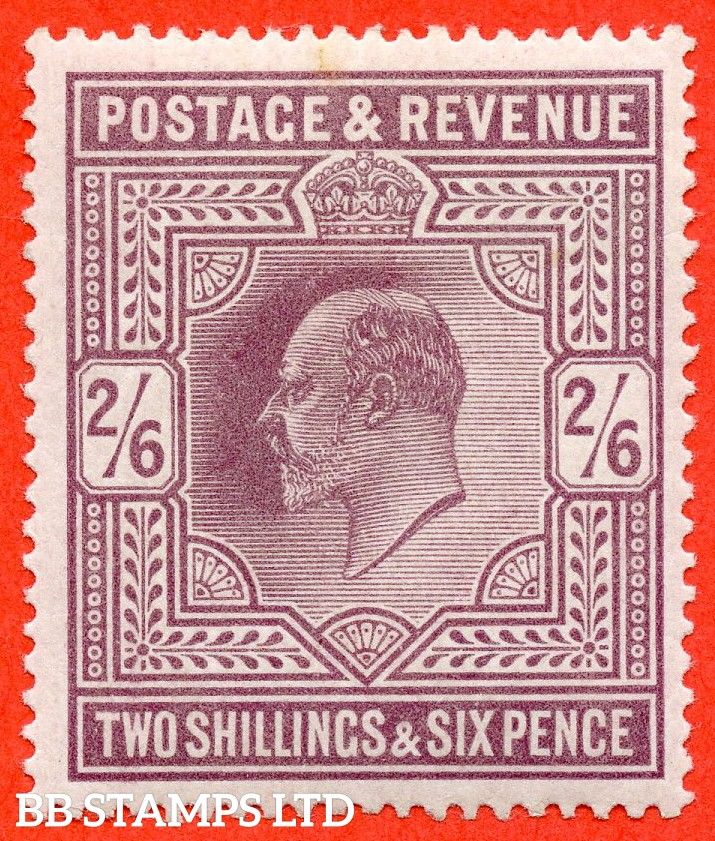 SG. 316. Variety M50 ( 4 ) 2/6d Pale Dull Reddish Purple. A fine lightly mounted mint example.
