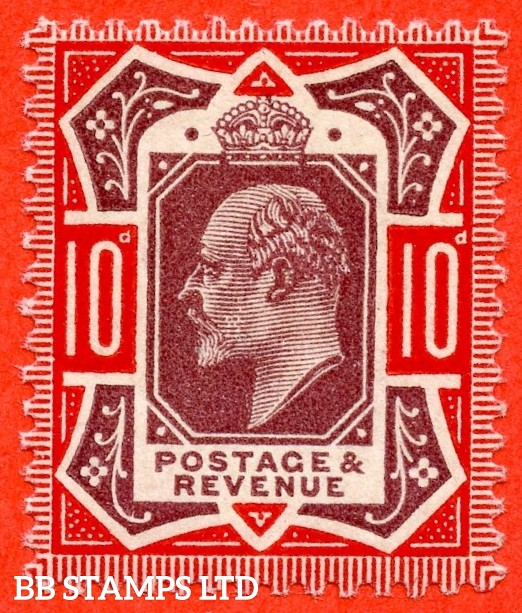 SG. 309 variety M44 (4). 10d Dull Purple & Deep Scarlet. A super UNMOUNTED MINT example complete with RPS certificate.