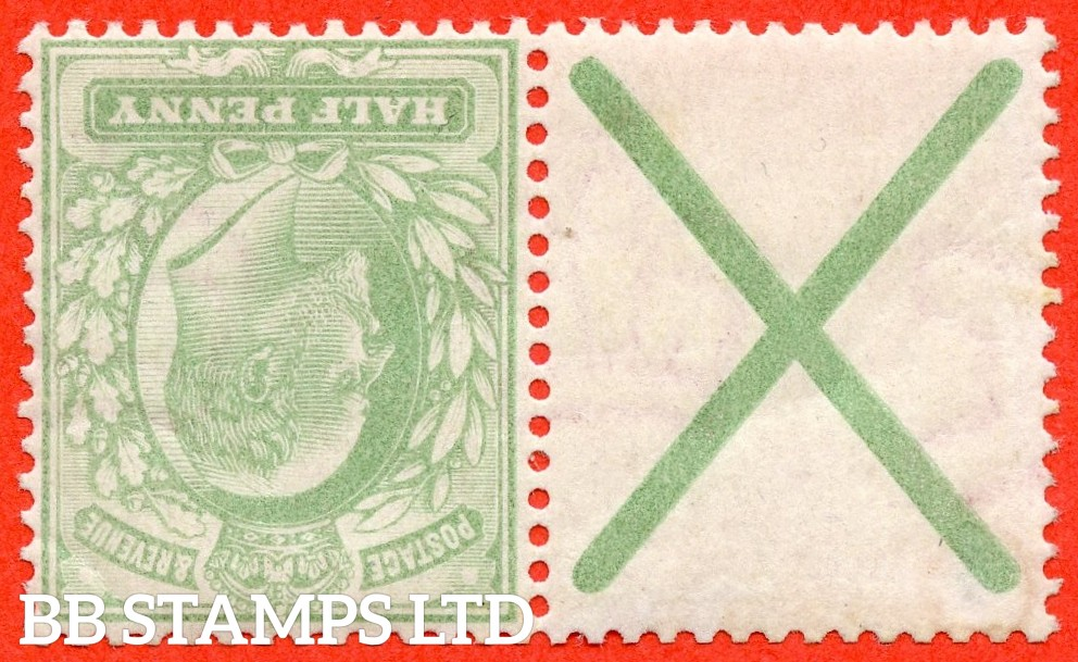 SG. 218 a wi. M2 (2) a. ½d yellowish green. INVERTED WATERMARK. A fine mounted mint example with St. Andrew's cross label attached.