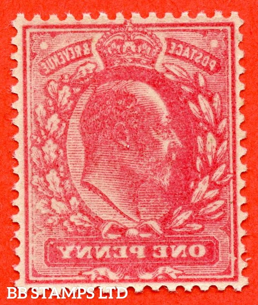 "SG. 219. M5 (1). 1d scarlet. A FANTASTIC complete "" OFFSET "" ERROR. UNMOUNTED MINT example."