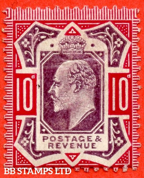 SG. 255 Variety M43 (3). 10d Slate Purple & Deep Carmine ©. A mounted mint example complete with RPS certificate.