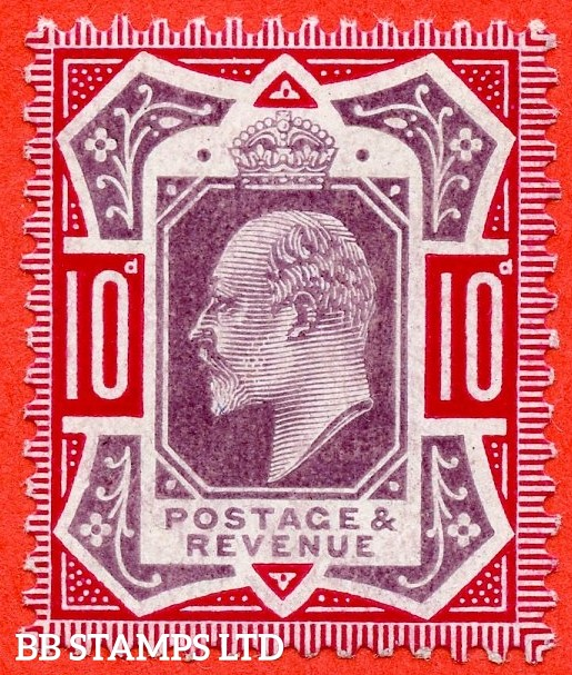 SG. 255 Variety M43 (3). 10d Slate Purple & Deep Carmine ©. A superb UNMOUNTED MINT example complete with RPS certificate.