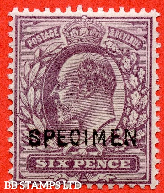 SG. 245 aas. M3 (1) s. 6d Pale Dull Purple  A fine mounted mint example overprinted SPECIMEN type 15.