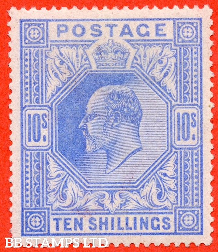 SG. 265. M53 (1) 10/- Ultramarine. A very fine well centred UNMOUNTED MINT example.