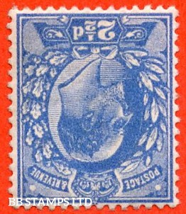 SG. 276 wi  M17 (2) a. 2½d Bright Blue. INVERTED WATERMARK. A superb UNMOUNTED MINT example of this RARE Edwardian watermark variety.