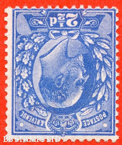 SG. 276 wi.  Variety M17 (1) a. 2½d Deep Bright Blue. INVERTED WATERMARK. A superb lightly mounted mint example of this RARE Edwardian watermark variety. Complete with RPS certificate.