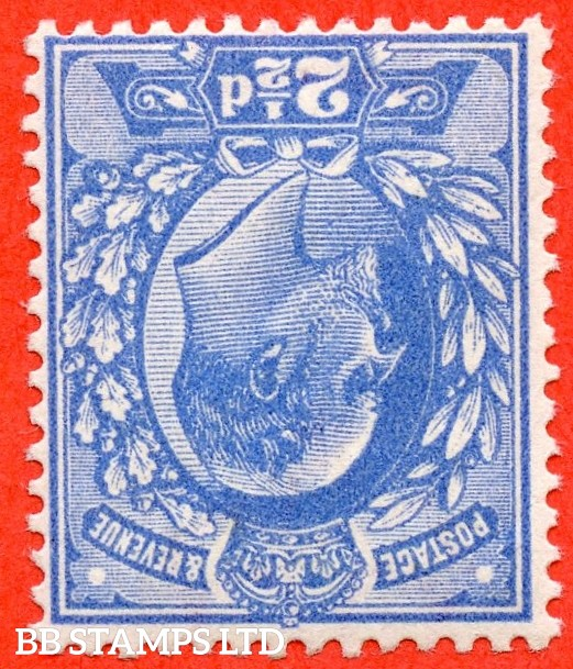 SG. 276 wi.  M17 (2) a. 2½d Bright Blue. INVERTED WATERMARK. A superb UNMOUNTED MINT example of this RARE Edwardian watermark variety.