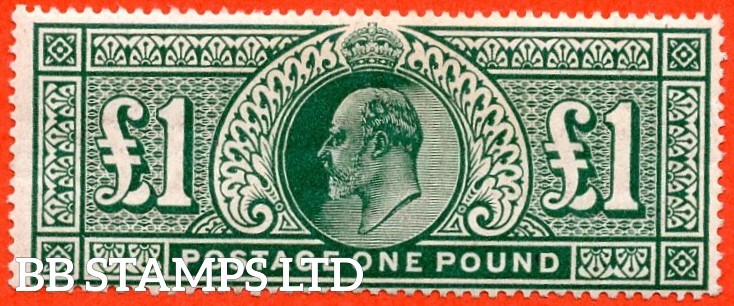 SG. 320. M56. £1.00 Deep Green. A very fine UNMOUNTED MINT example of this ever popular stamp.