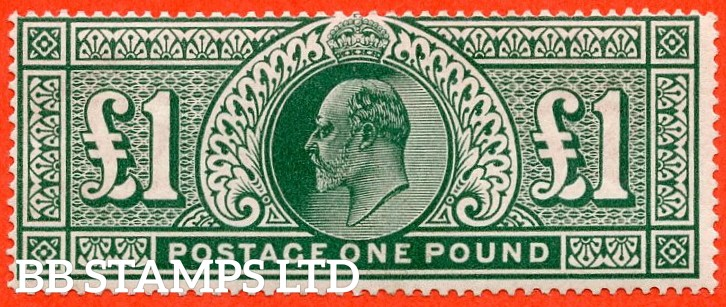 SG. 320. M56. £1.00 Deep Green. A very fine UNMOUNTED MINT example.