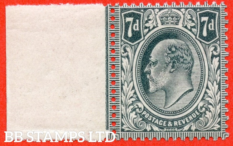 SG. 249a. M37 (2). 7d Deep Grey Black. A super UNMOUNTED MINT example complete with RPS certificate.