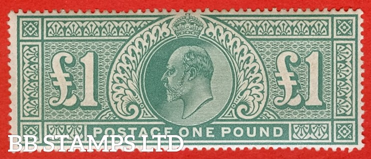 SG. 266. M55. £1.00 dull blue - green. A super UNMOUNTED MINT example with good centring, excellent colour and perfs.