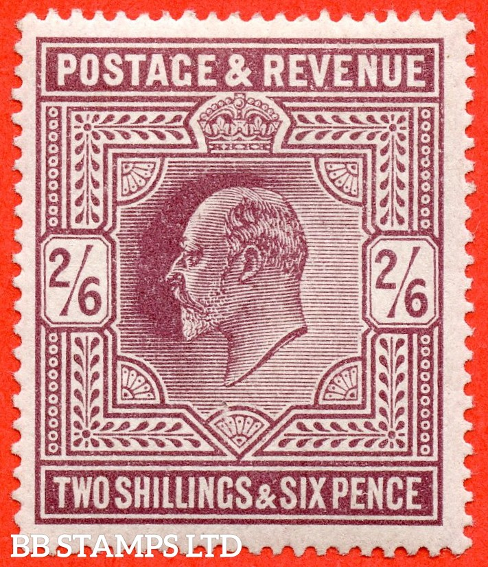 SG. 316. M50 ( 2 ) 2/6 Dull Reddish Purple. A fine UNMOUNTED MINT example with excellent perfs.