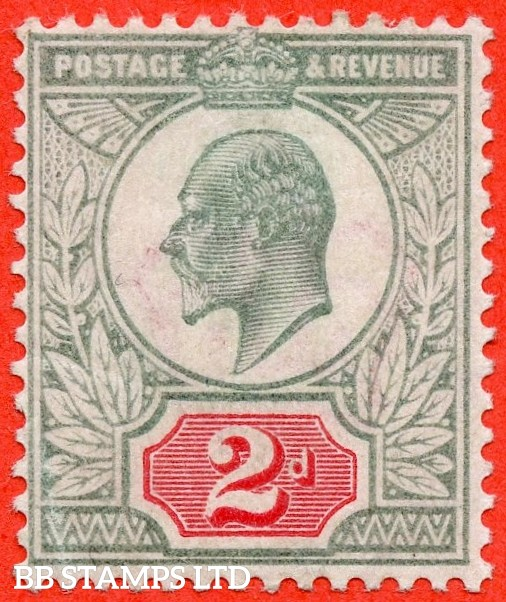 SG. M11 (3). 2d Pale Grey Green & Scarlet Vermilion. A fine mounted mint example of this difficult Edwardian shade variety complete with RPS certificate.