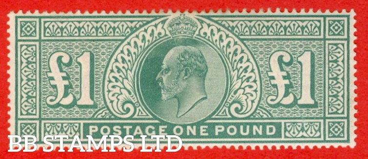 SG. 266. M55. £1.00 Dull blue - green. A super UNMOUNTED MINT which is well centred with excellent colour and perfs.