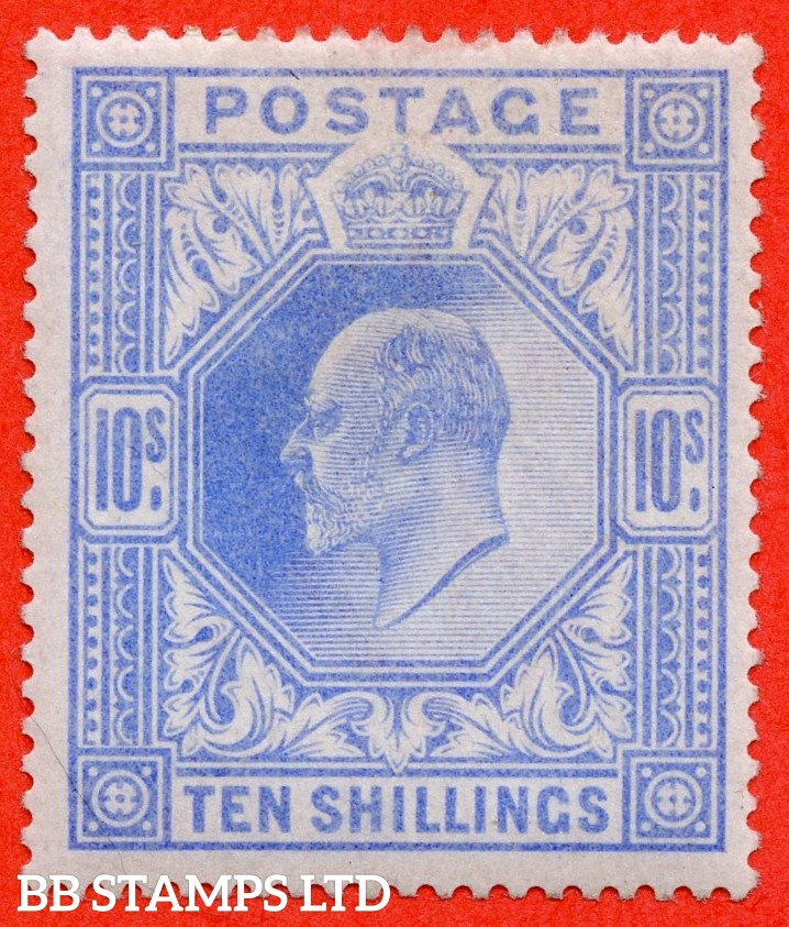 SG. 265. M53 (1) 10/- Ultramarine. A very fine UNMOUNTED MINT example.