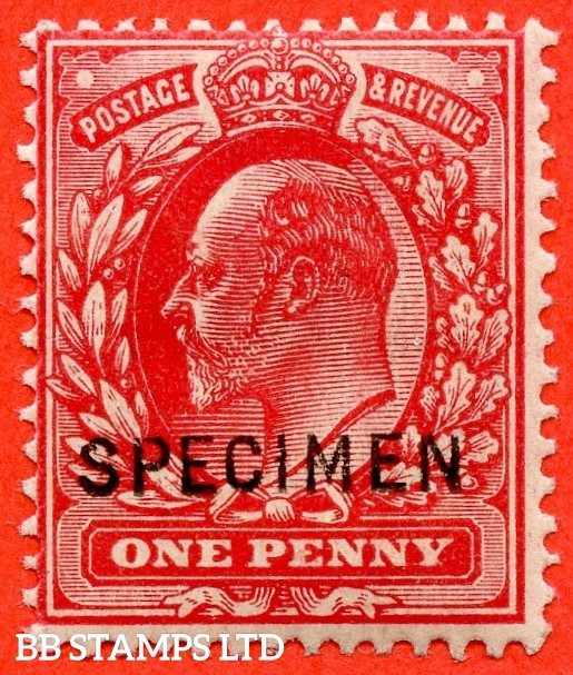 SG. 219 s. M5 (1) w. 1d scarlet. A mounted mint example overprinted by SPECIMEN type 22.