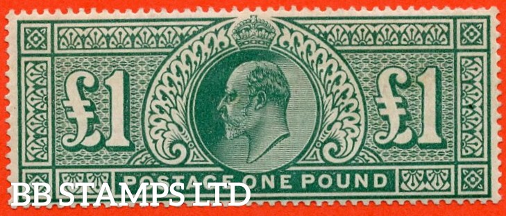 SG. 266. M55. £1.00 dull blue - green. A super UNMOUNTED MINT example.
