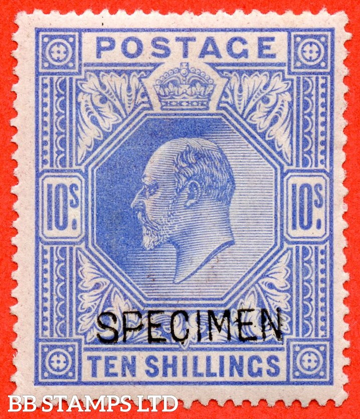 SG. 265 s. M53 (1) s 10/- Ultramarine. A fine mounted mint example overprinted with SPECIMEN type 16.