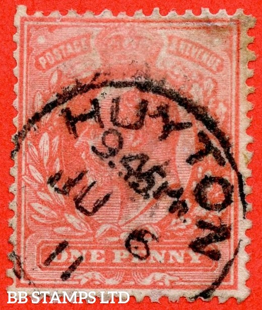 "SG. 275. M6 (8) 1d Aniline Pink. A fine "" 6th June 1911 HUYTON "" CDS used example of this scarce shade."