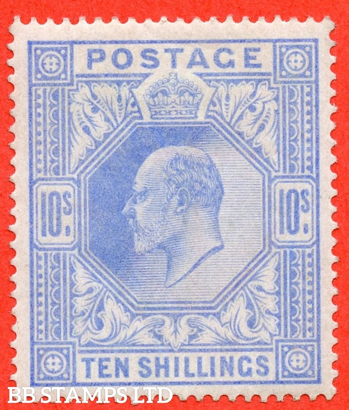 SG. 265. M53 (1) 10/- Ultramarine. A fine lightly mounted mint example.