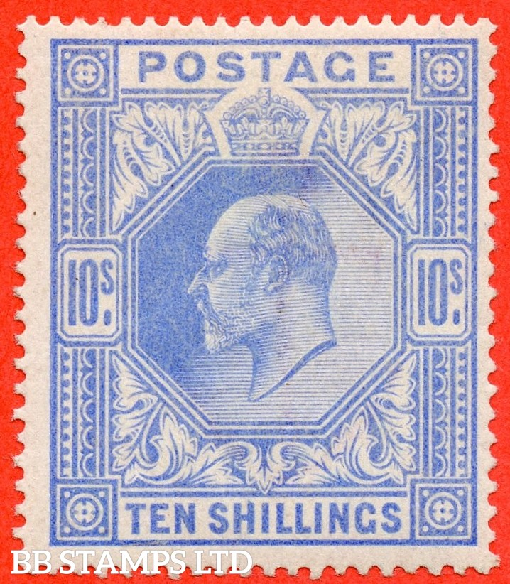 SG. 265. M53 (1) 10/- Ultramarine. A fine UNMOUNTED MINT single with excellent perfs.