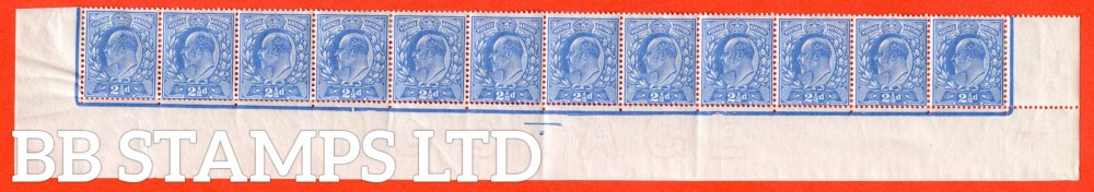 SG. 283. M18 (2). 2½d Bright Blue. A fine mint complete bottom row from plate 6. Cut under ½ of 4th stamp. Row 20/4. Ex. The superb collection of Lady Mairi Bury.