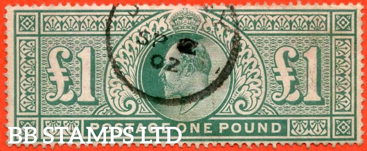 SG. 266. M55. £1.00 Dull blue - green. A fine used example.