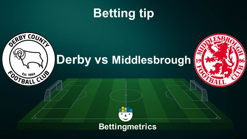 Bettingmetrics expert tips on the English championship game between Derby County v Middlesbroug.