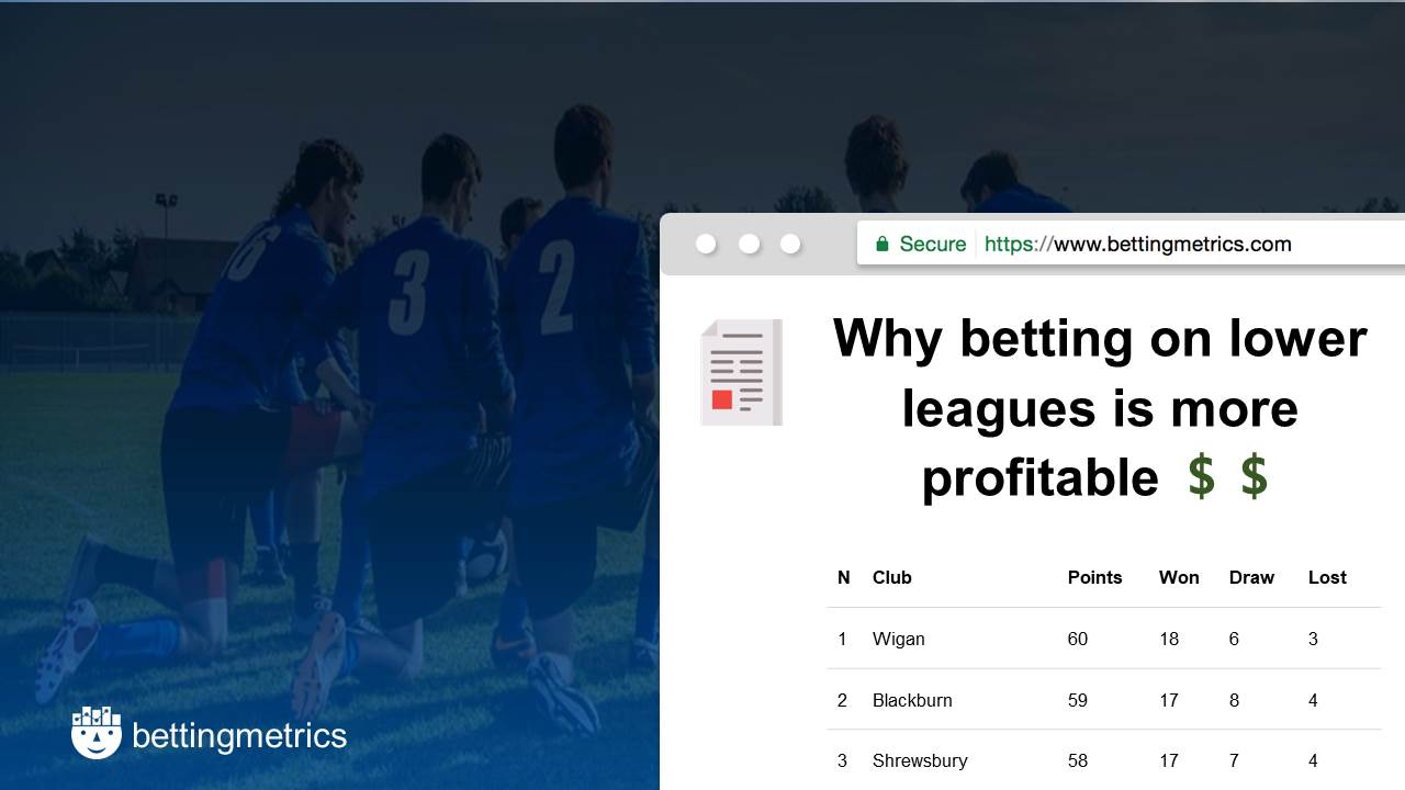 Why betting on lower leagues is more profitable