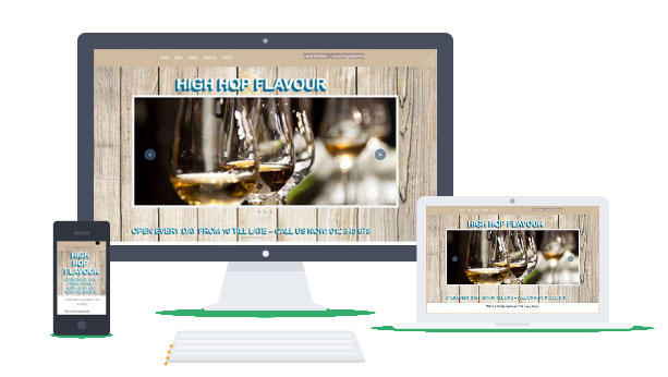 Restaurant Website Builder - Final result