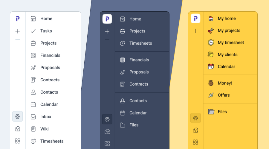 Plutio editable menu