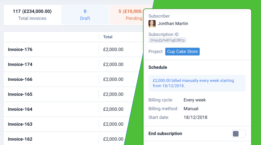 Plutio subscriptions and auto billing for freelancers and small businesses