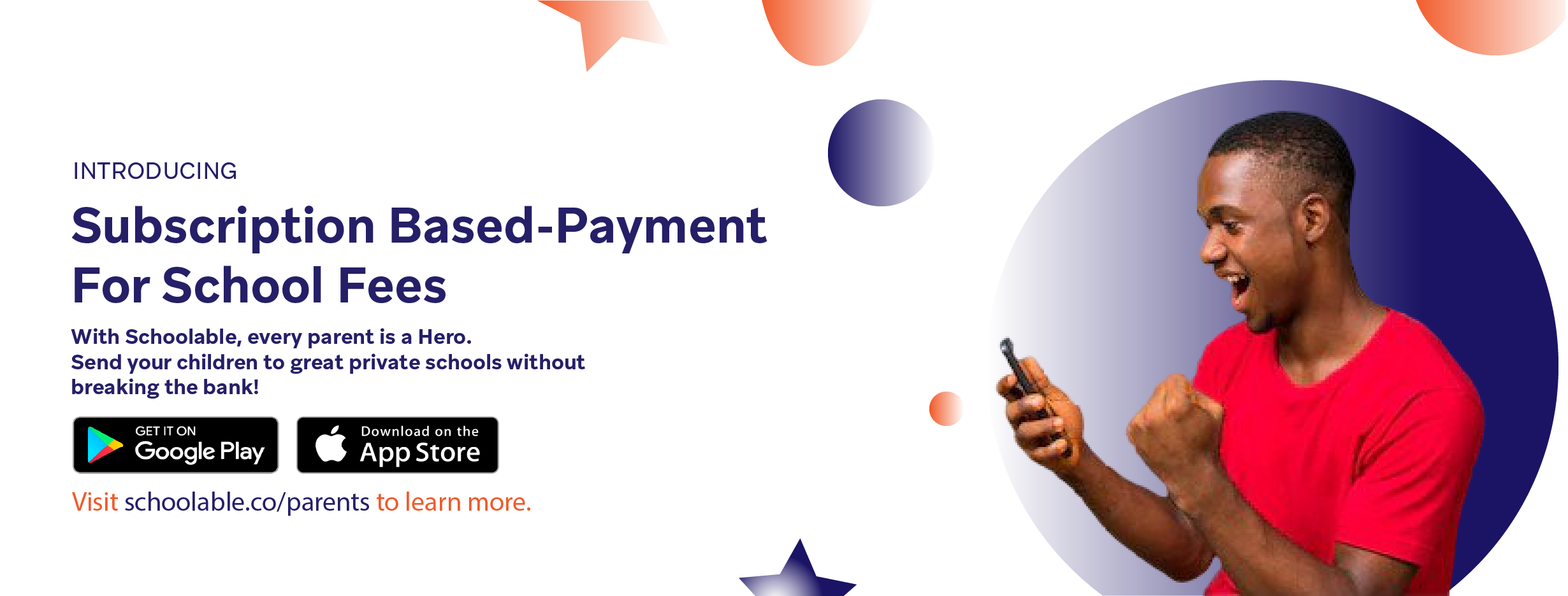 Subscription-based payment for School Fees.