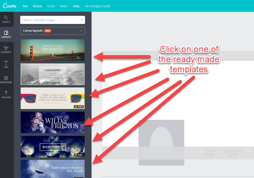 Choose from a range of templates on Canva