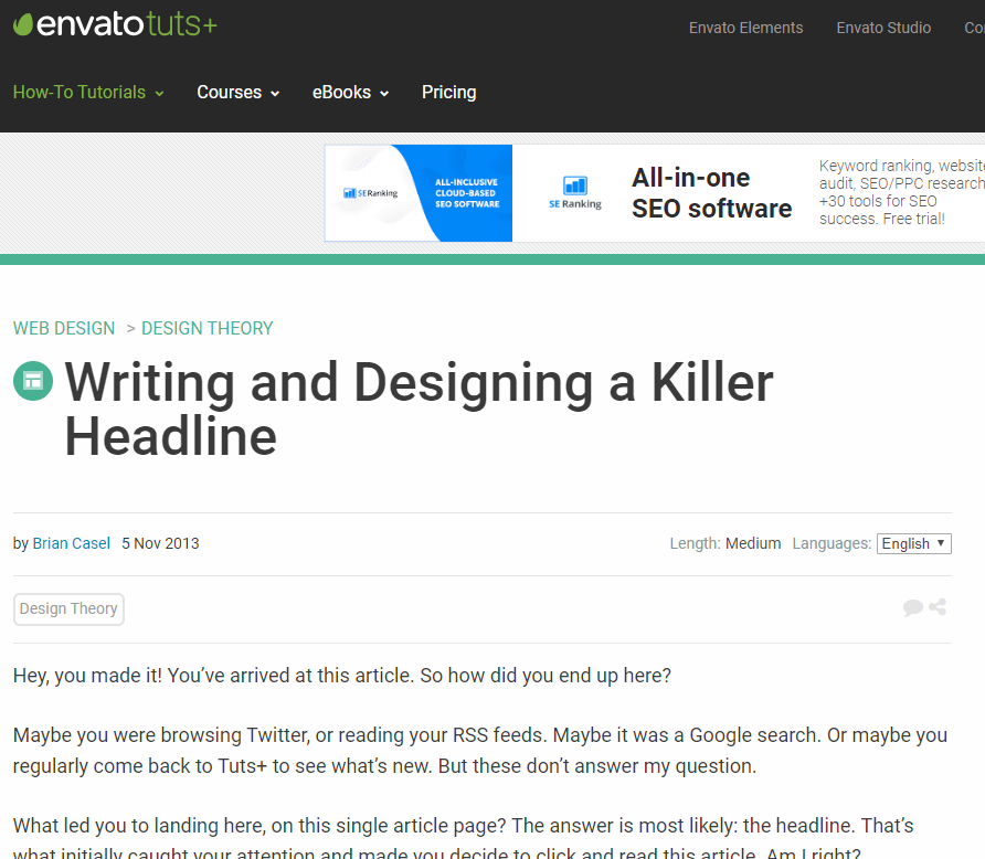 Designing a Headline That's Killer