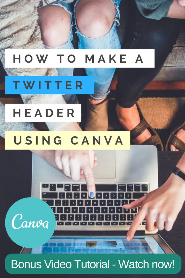 How to Make a Twitter Header for Free with Canva Graphics Template Software