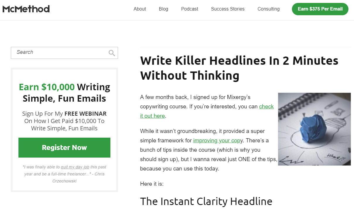 Produce Your Headline Using This 2 Step Method