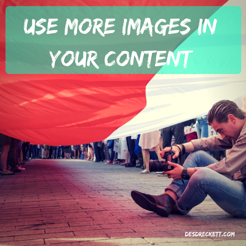 Use more images in your content