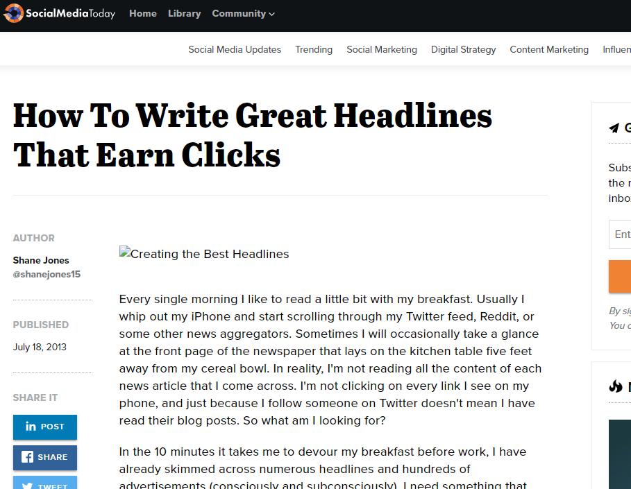 Write Headlines That Get You Clicks