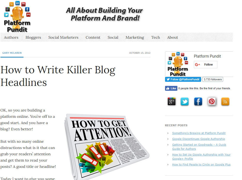 Writing Killer Blog Headlines