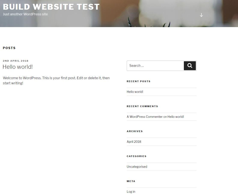 build website first look