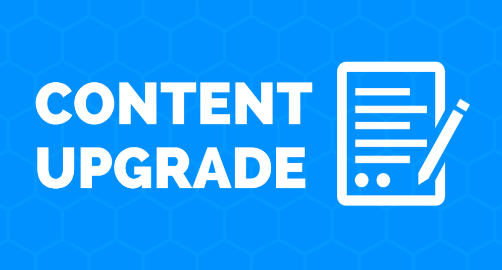 Do more content upgrades