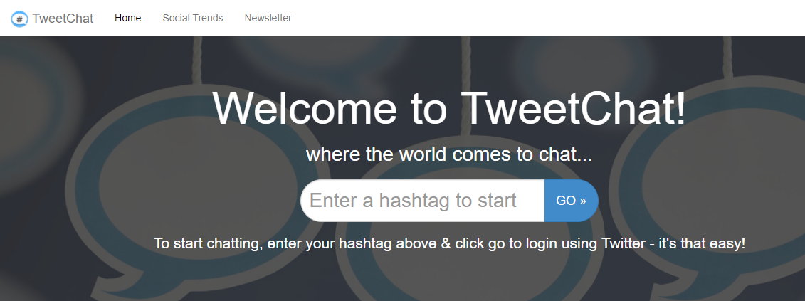 use tweetchat for blog post ideas