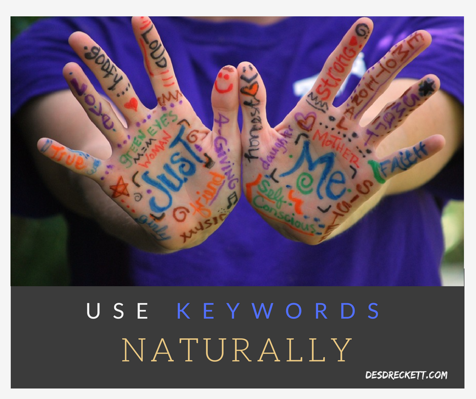 use keywords naturally